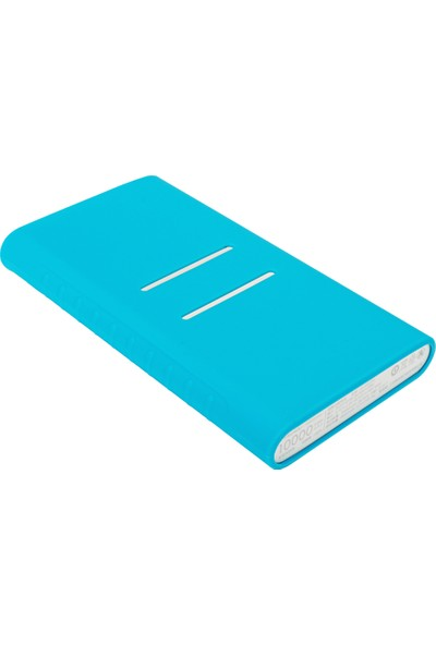 Case 4U Xiaomi 10000 mAh (Versiyon 2) Taşınabilir Şarj Cihazı Silikon Kılıf Mavi