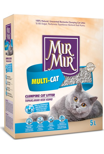 Mır Mır Bentonite Multicat Kedi Kumu 5Lt