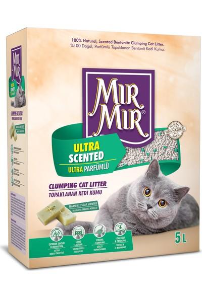 Mır Mır Bentonit Ultra Parfümlü (Marsilya Sabun Kokulu)Kedi Kumu 5 Lt