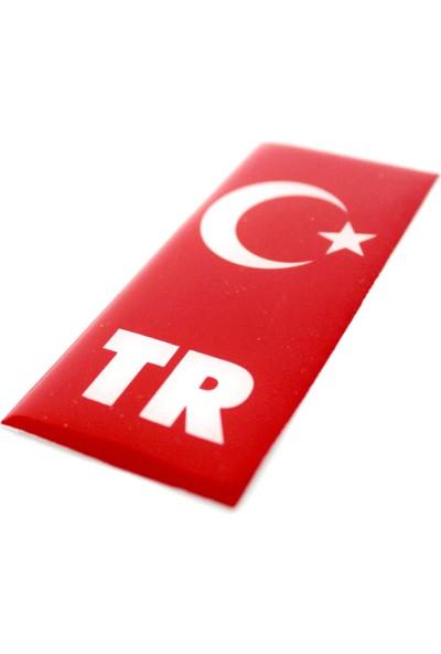 ModaCar Plaka İçin TR Bölümüne Damla Türk Bayrağı 422182