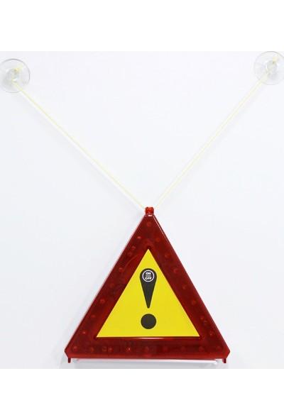 ModaCar 24 Kırmızı Ledli Işıklı Üçgen Reflektör 425919