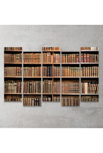 Plustablo Vintage Kitaplık 5 Parça MDF Tablo 100x65 cm