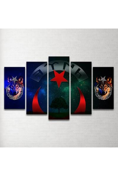 Plustablo Özel Tasarım 5 Parça MDF Tablo 100x60cm.