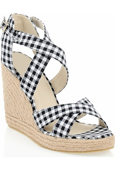Pedro Camino Weekend Kadın Günlük Ayakkabı 22347 Siyah-Beyaz