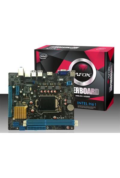 Afox IH61-MA Intel LGA1155 H61 DDR3 MicroATX Anakart