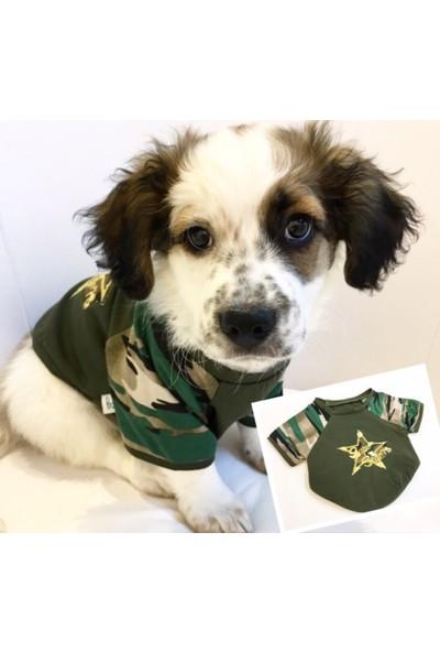 Dogi & Dog Askeri Köpek Tshırt-Köpek Kiyafeti-Köpek Elbisesi-Kedi Kiyafeti