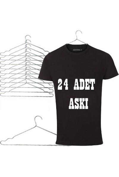 Sevimliev Metal Elbise Askısı - 24'lü
