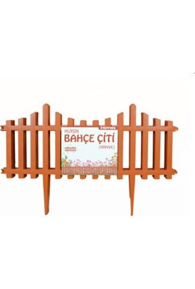 Sevimliev Kahverengi Klasik Bahçe Çiti (2.4 M) - 4'lü