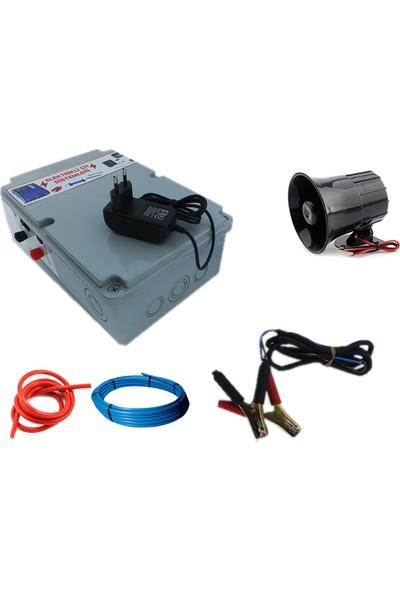 Sirenli Elektrikli Çit Makinesi 5Km Menzil 220V