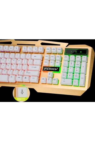 Gringo Metal Işıklı Multimedia Oyuncu Oyuncu Klavye Mousepad Mouse Set