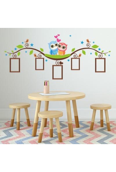 DekorLoft Baykuşlar Fotoğraf Albümü Çocuk Odası Duvar Sticker CS-324
