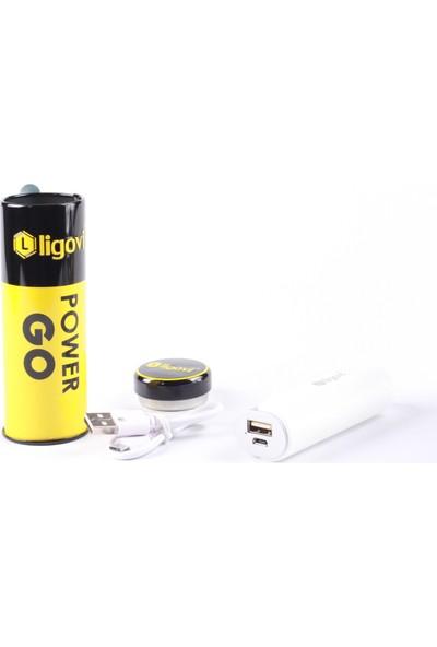 Ligovi 2600 mAh Power Go Taşınabilir Şarj Cihazı Beyaz