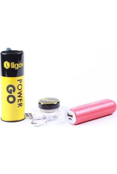 Ligovi 2600 mAh Power Go Taşınabilir Şarj Cihazı Kırmızı