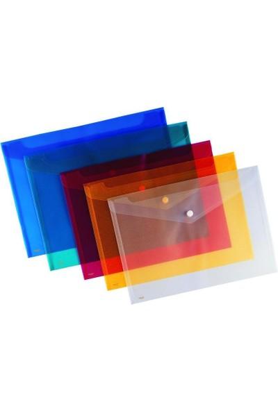 Kraf Çıtçıtlı Dosya A4 12'li Paket (1209) Mavi