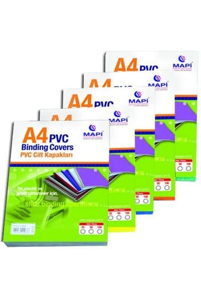 Mapi Cilt Kapağı A4 PVC 160 Micron 100'lü Paket Mavi
