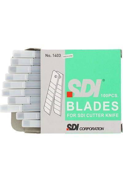 SDI Maket Bıçağı Yedeği Dar 100'lü Paket (1403)