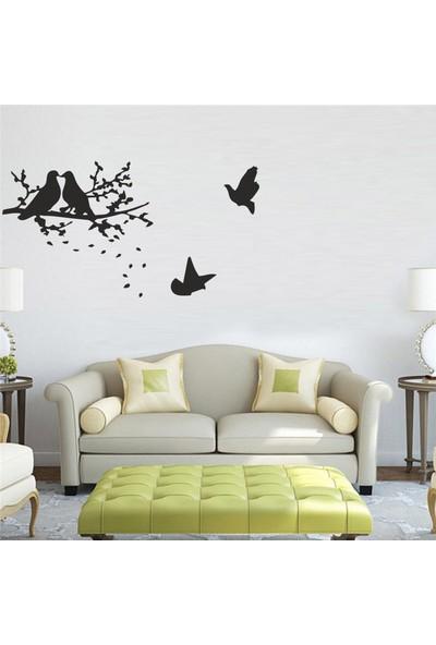 """Bisticker S-109 """"Ağaç Güvercinler"""" Duvar Sticker"""