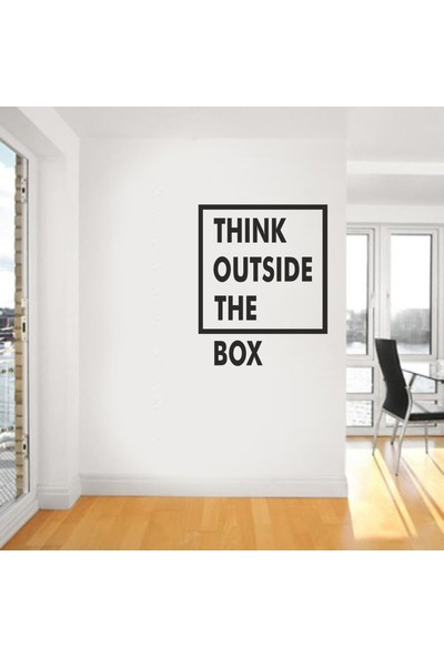 "Bisticker S-127 ""Thınk Outsıde The Box"" Duvar Sticker"