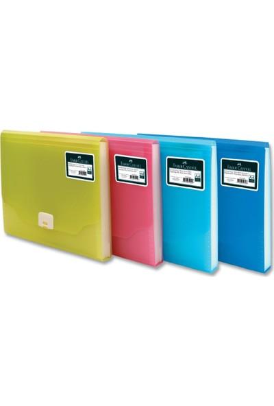 Faber Castell Körüklü Dosya Neon Renkler Mavi
