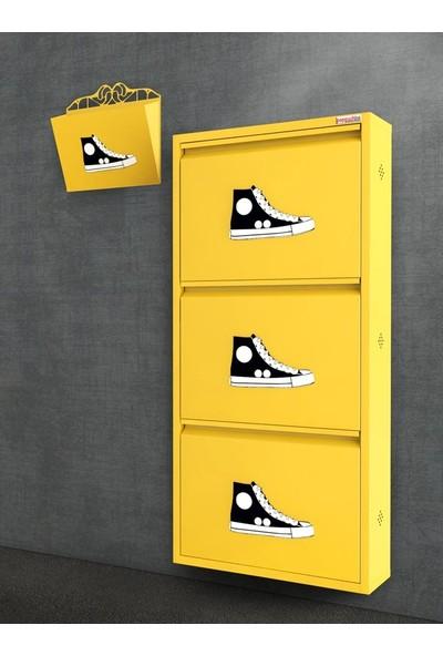 Pappuchbox De-5013 3'Lü Takım Metal Ayakkabılık