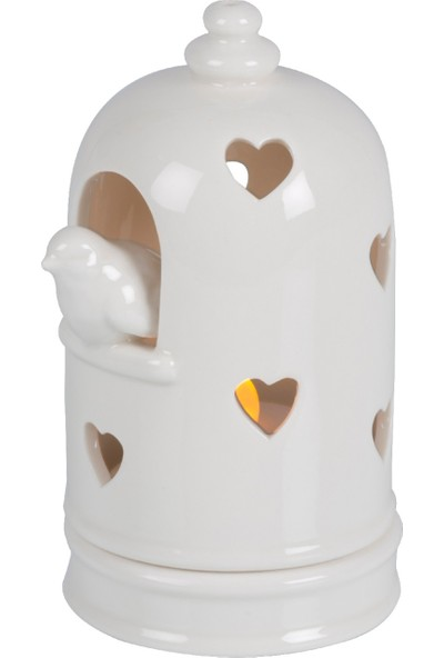 Porselen Mumluk Kuşlu Büyük