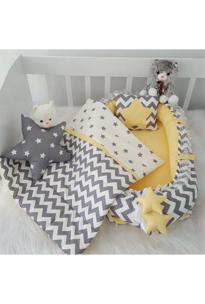 Jaju Baby Sarı Zigzag Ve Yıldız Desenli Jaju Baby Seti