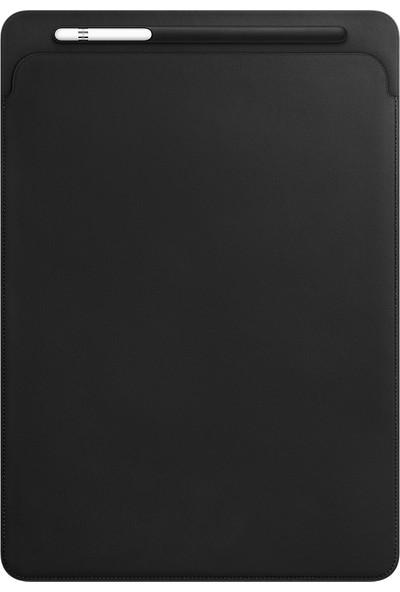 Apple 12.9 inç iPad Pro Deri Zarf Kılıf Siyah MQ0U2ZM/A
