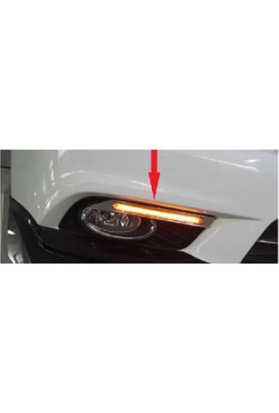 Honda Civic Fb7 Ledli Sinyalli Sis Çercevesi