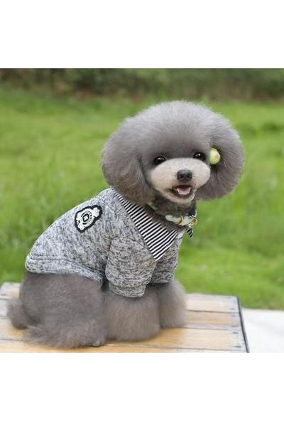 By Kemique Boss Gömlekli Köpek Kazağı Gri