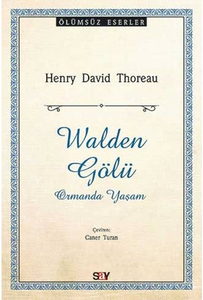 Walden Gölü - Henry David Thoreau