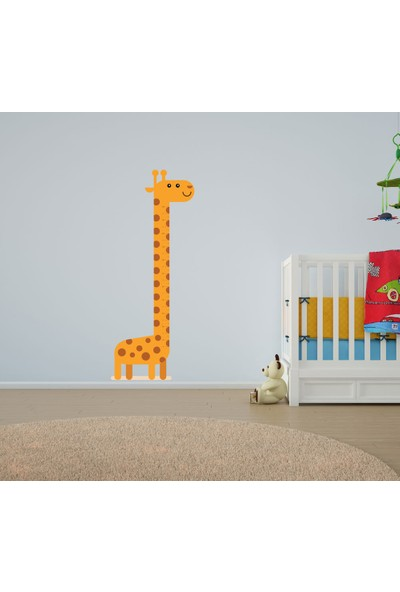 Bisticker W-145 Çocuk Odası Zürafa Boy Ölçer Duvar Sticker