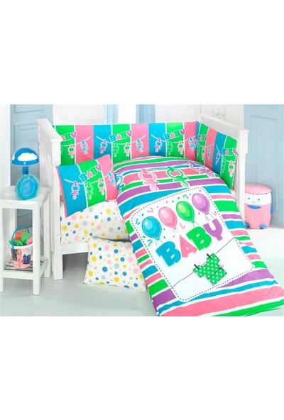 Kidboo Baby 8 Parça Baskılı Uyku Seti 7 x 130