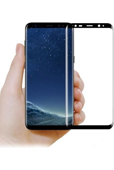 Elx Samsung Galaxy S8 Plus 3D Kavisleride Kaplayan Renkli Temper Cam