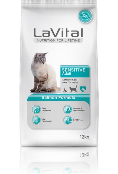 Lavital Sensıtıve Somon Adult Deri ve Sindirim Hassasiyetli Yetişkin Kedi Maması 12 Kg.