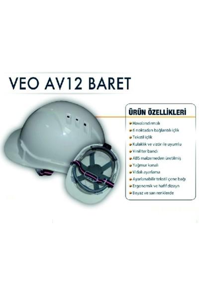 Veo Baby Av12 Abs Baret Vidalı Havalandırmalı Beyaz