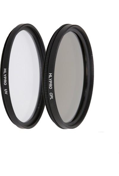 Haskan Nikon 50mm f/1.8 D Lens İçin 52mm Uv Filtre + CPL Filtre