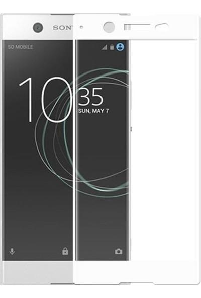 Teleplus Sony Xperia Xa1 Tam Kapatan Cam Ekran Koruyucu Beyaz
