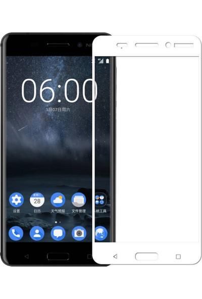 Teleplus Nokia 3 3D Cam Ekran Koruyucu Tam Kapatan Cam Ekran Koruyucu Beyaz