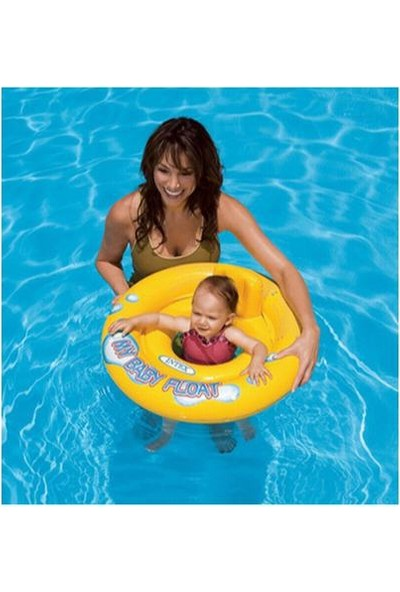 İntex Bebek Simidi Float 67 cm Sarı