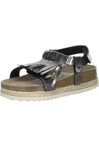 Superfit Kız Çocuk Sandalet Schwarz Tecno 122.01 Bronz