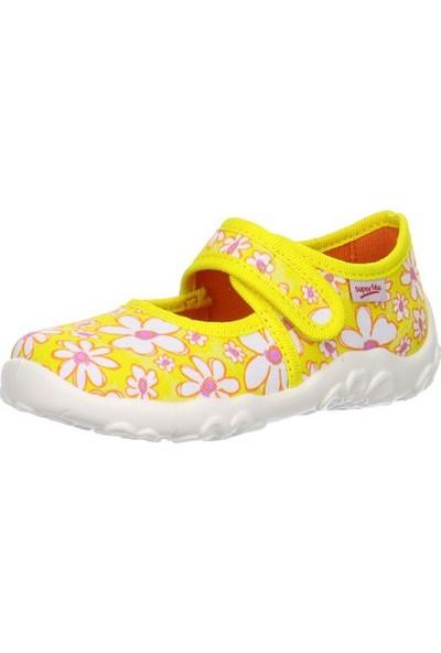 Superfit Kız Çocuk Ev Ayakkabısı Sun Kombi Textil Bonny 281.97 Sarı Çiçekli