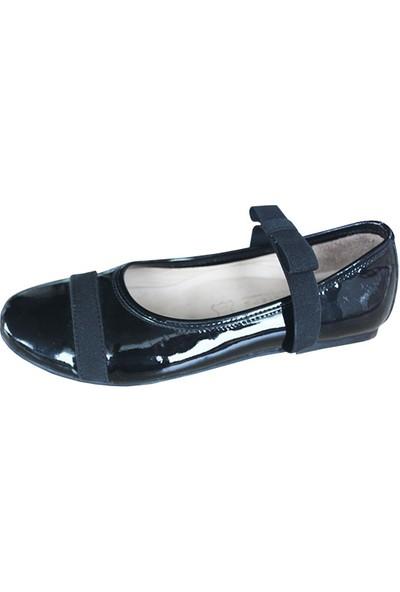 4KidSteps Kız Çocuk Ayakkabı Siyah Rugan