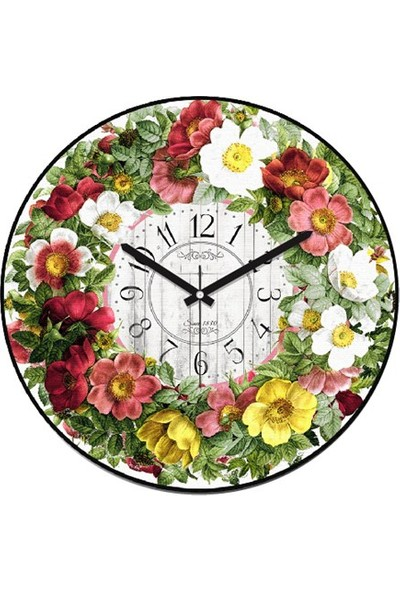 Clockmaker By Cadran Retro Vintage 30X30 Mdf Duvar Saati Cmm101