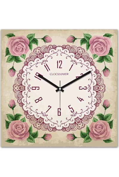 Clockmaker By Cadran 30x30 Mdf Duvar Saati CMM252
