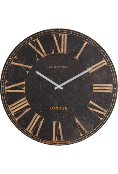 Clockmaker By Cadran Retro Vintage 30X30 Mdf Duvar Saati Cmm98