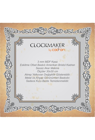 Clocktime By Cadran 40X40 Çatal Kaşık Mutfak Saati Ct121