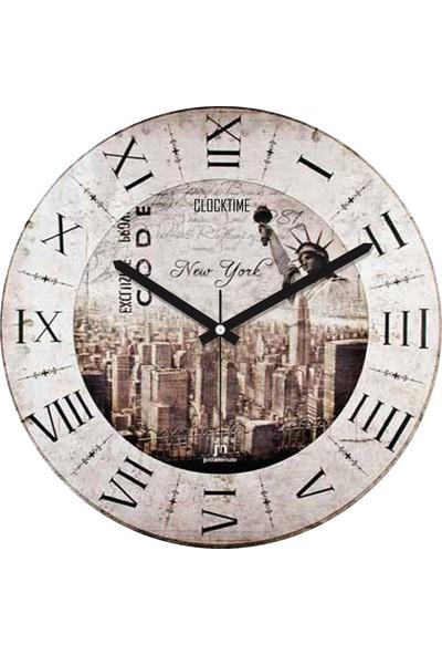 Clocktime By Cadran 30x30 Cm MDF Duvar Saati CTM1