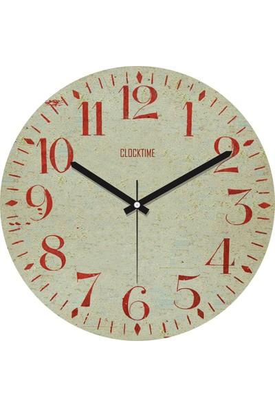 Clocktime By Cadran 30x30 Cm MDF Duvar Saati CTM13