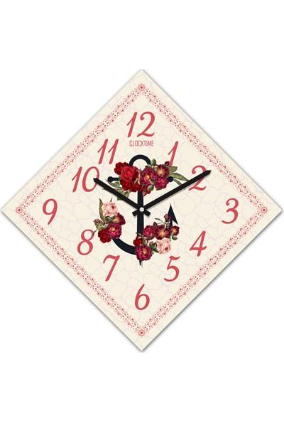 Clocktime By Cadran 30x30 Cm MDF Duvar Saati CTM168