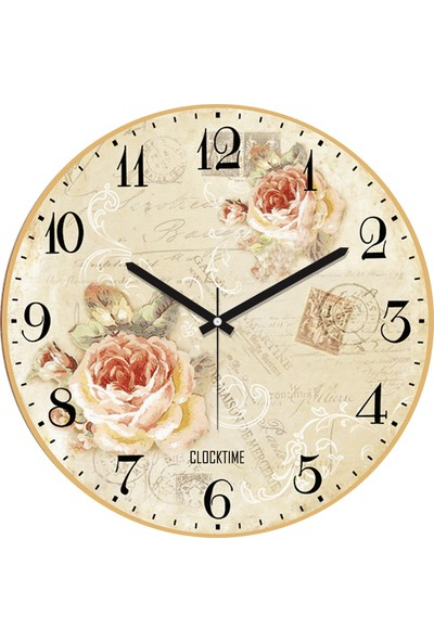 Clocktime By Cadran 30x30 Cm MDF Duvar Saati CTM29